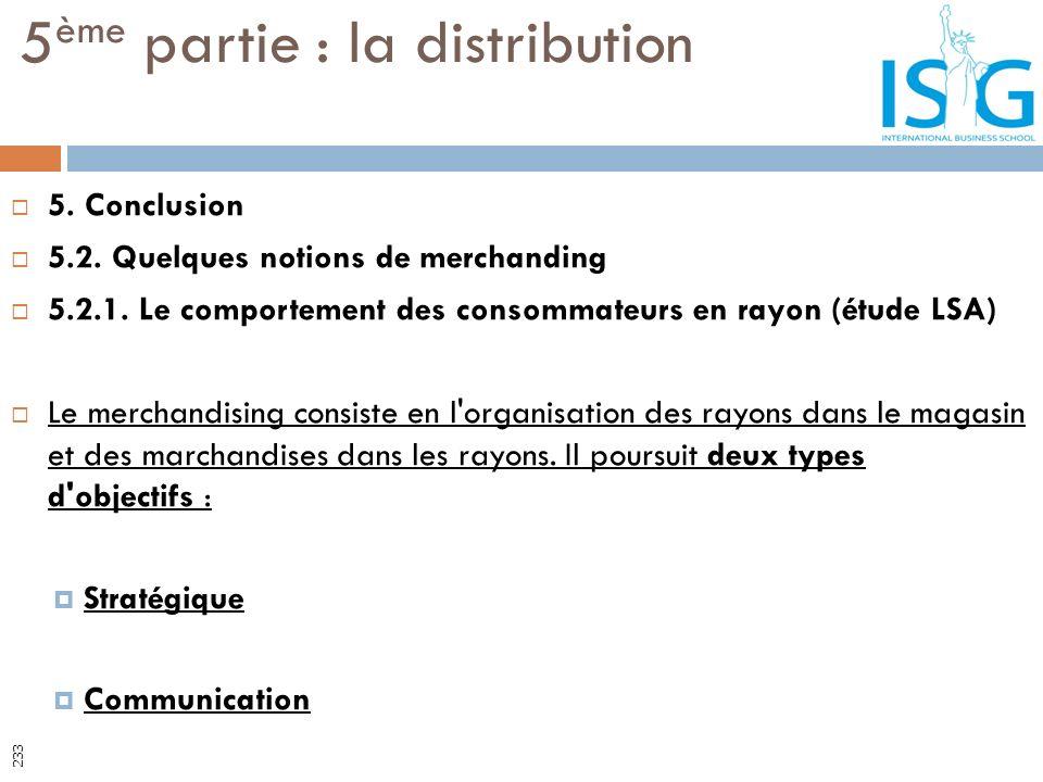 5. Conclusion 5.2. Quelques notions de merchanding 5.2.1. Le comportement des consommateurs en rayon (étude LSA) Le merchandising consiste en l'organi
