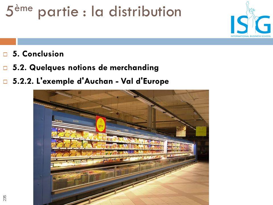 5. Conclusion 5.2. Quelques notions de merchanding 5.2.2. L'exemple d'Auchan - Val d'Europe 5 ème partie : la distribution 235