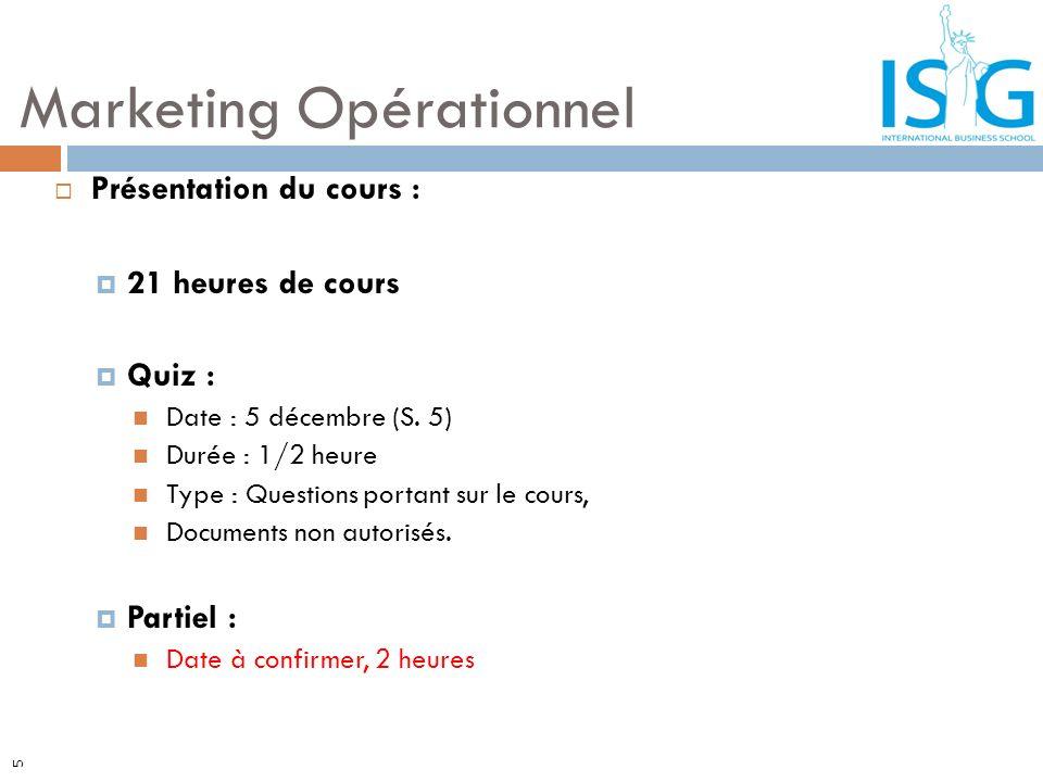 5 Présentation du cours : 21 heures de cours Quiz : Date : 5 décembre (S. 5) Durée : 1/2 heure Type : Questions portant sur le cours, Documents non au