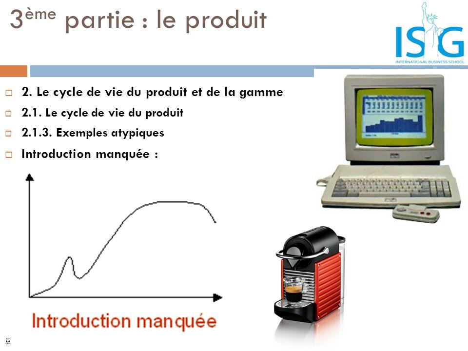 2. Le cycle de vie du produit et de la gamme 2.1. Le cycle de vie du produit 2.1.3. Exemples atypiques Introduction manquée : 3 ème partie : le produi