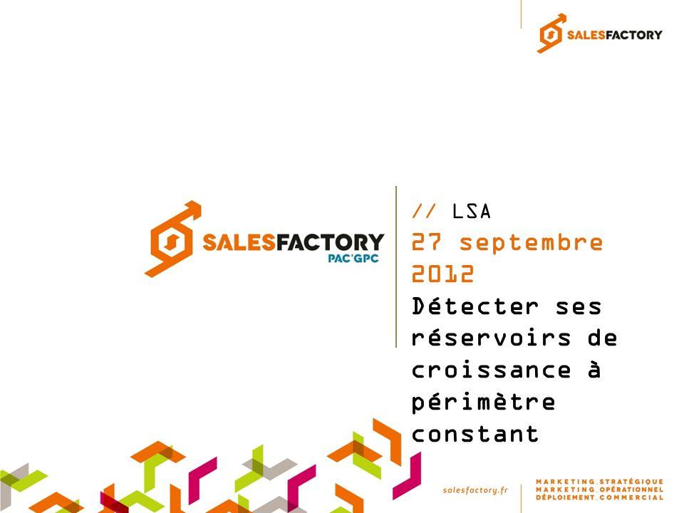 // LSA 27 septembre 2012 Détecter ses réservoirs de croissance à périmètre constant