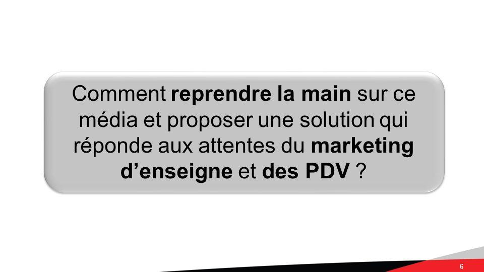6 Comment reprendre la main sur ce média et proposer une solution qui réponde aux attentes du marketing denseigne et des PDV ?