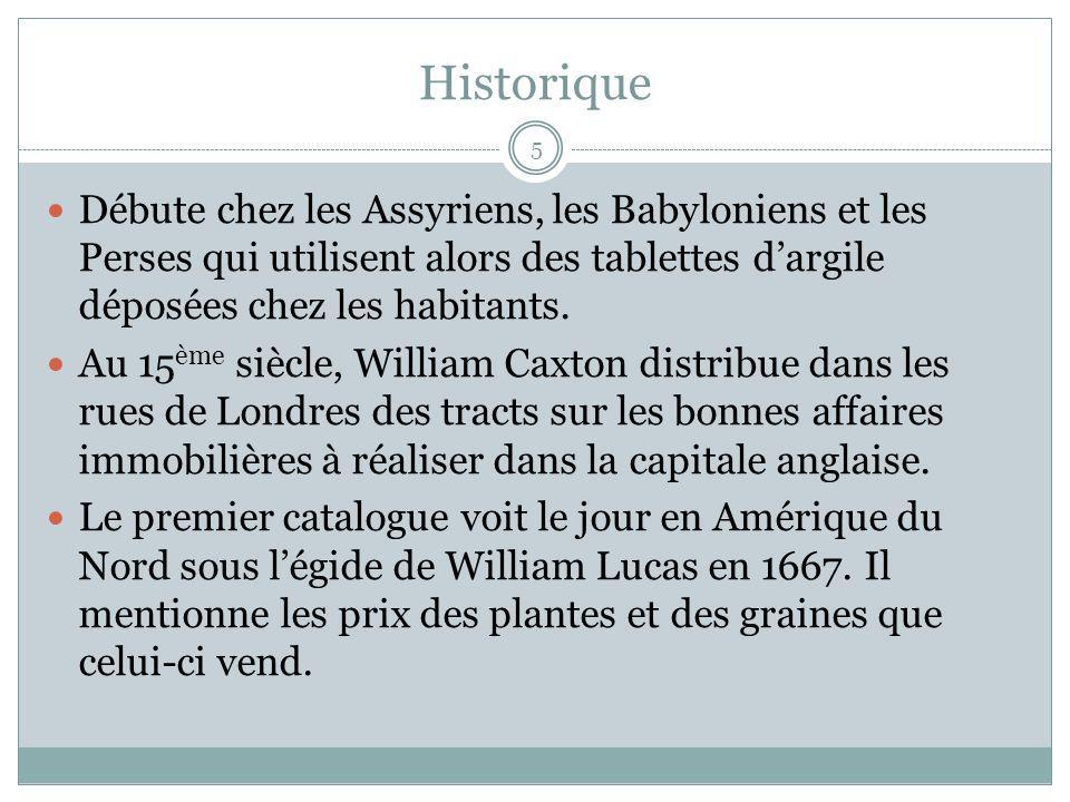 Historique 5 Débute chez les Assyriens, les Babyloniens et les Perses qui utilisent alors des tablettes dargile déposées chez les habitants. Au 15 ème
