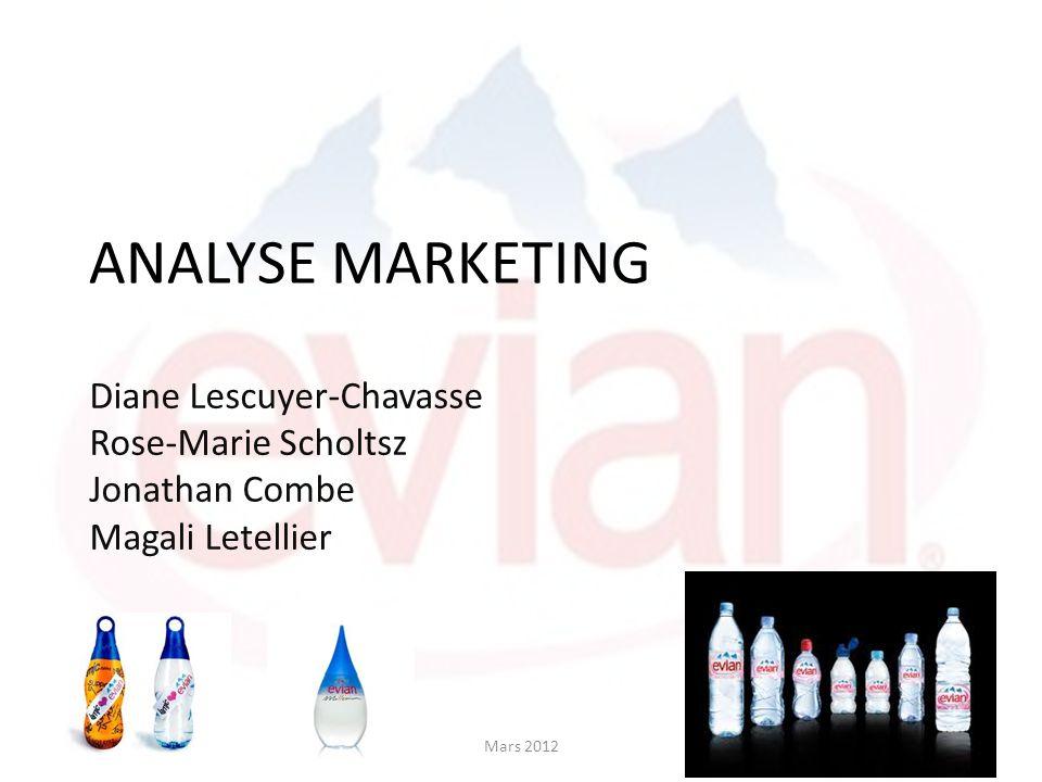 ANALYSE MARKETING Diane Lescuyer-Chavasse Rose-Marie Scholtsz Jonathan Combe Magali Letellier Mars 2012