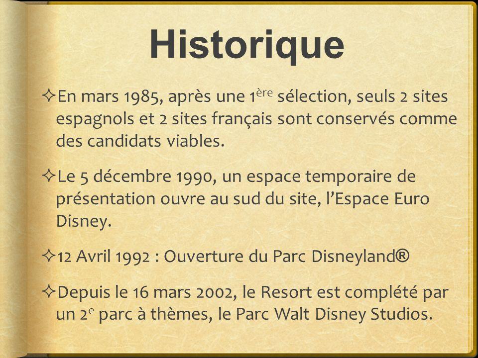 Historique En mars 1985, après une 1 ère sélection, seuls 2 sites espagnols et 2 sites français sont conservés comme des candidats viables. Le 5 décem