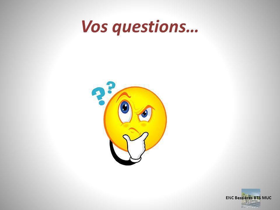 Vos questions… ENC Bessières BTS MUC