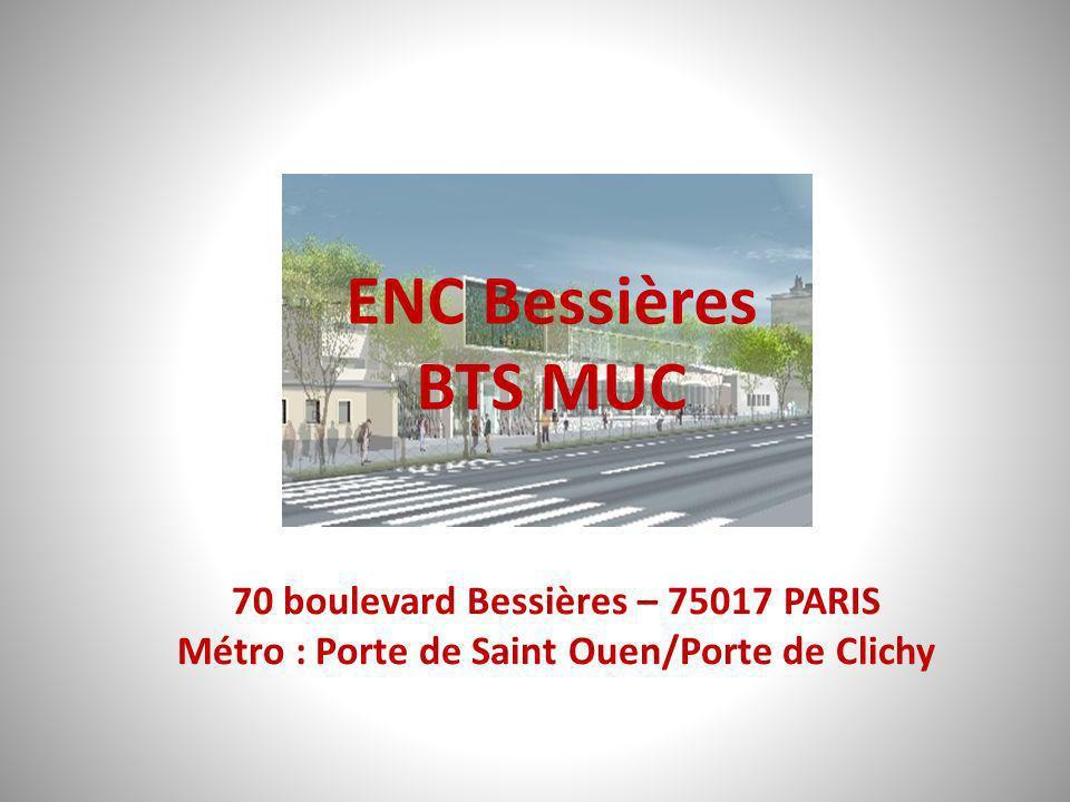70 boulevard Bessières – 75017 PARIS Métro : Porte de Saint Ouen/Porte de Clichy