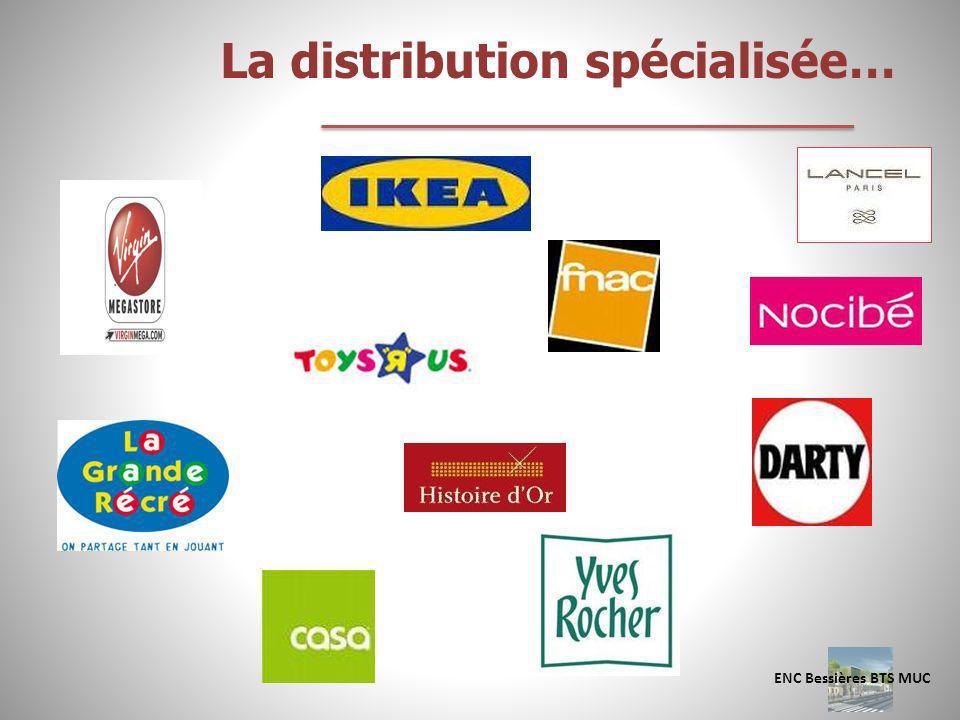 La distribution spécialisée… ENC Bessières BTS MUC