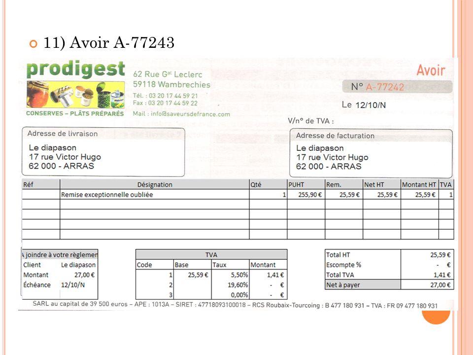 11) Avoir A-77243