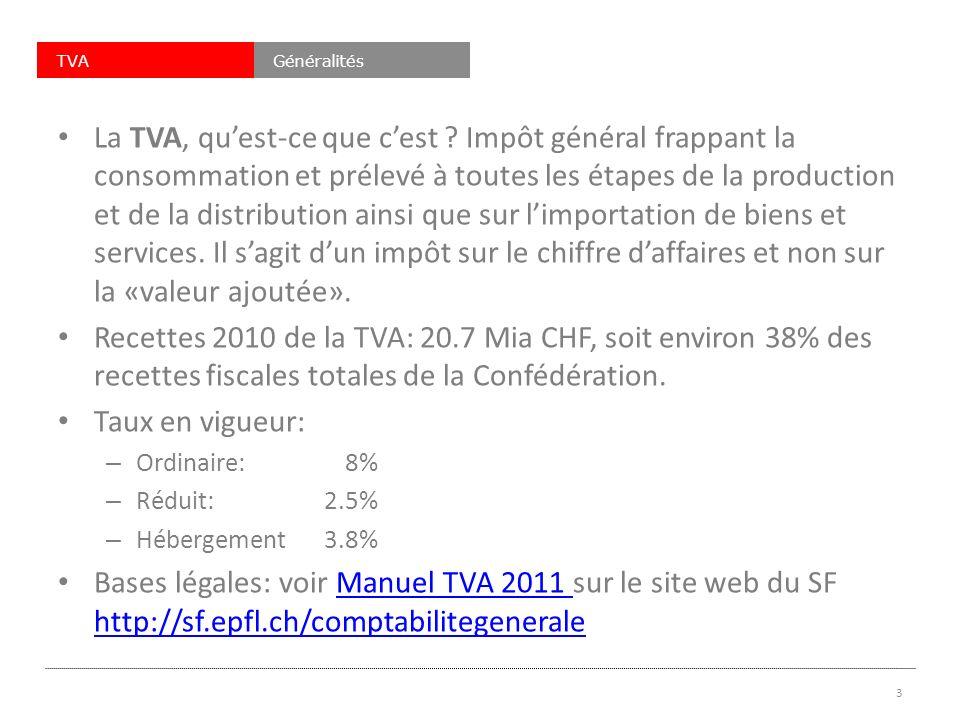 TVAGénéralités La TVA, quest-ce que cest .