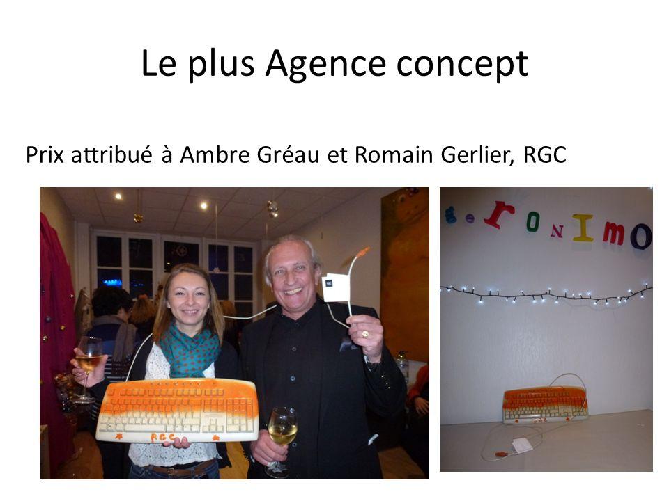 Le plus Agence concept Prix attribué à Ambre Gréau et Romain Gerlier, RGC