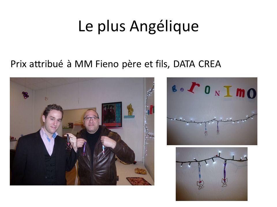 Le plus Angélique Prix attribué à MM Fieno père et fils, DATA CREA
