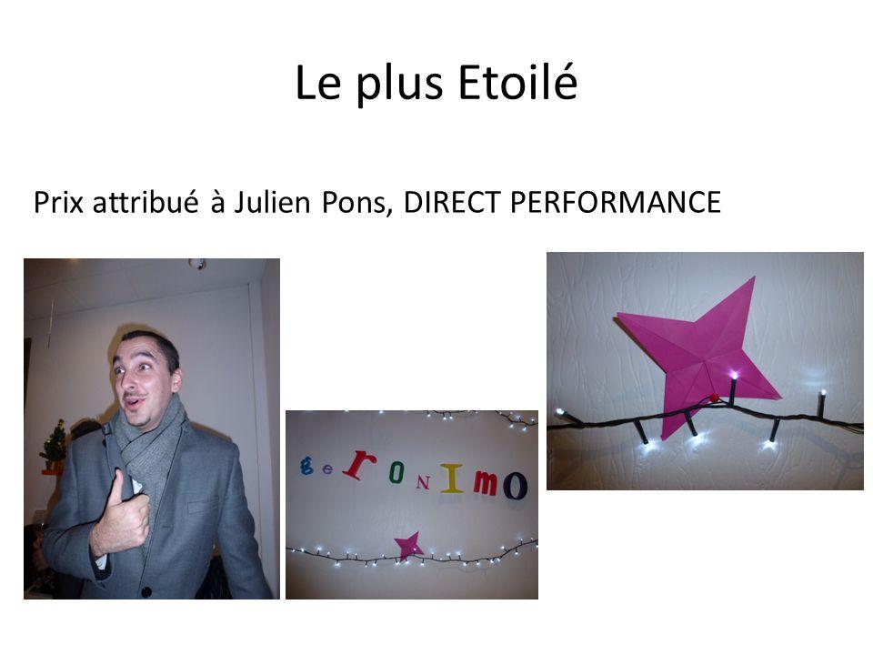Le plus Etoilé Prix attribué à Julien Pons, DIRECT PERFORMANCE