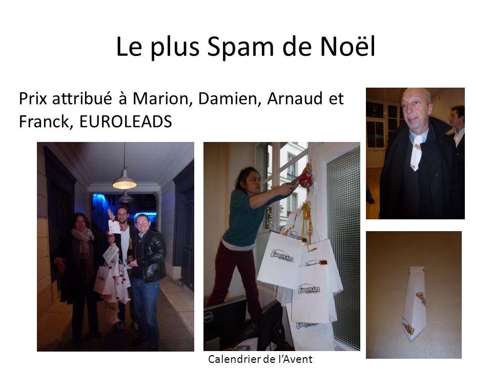 Le plus Spam de Noël Prix attribué à Marion, Damien, Arnaud et Franck, EUROLEADS Calendrier de lAvent