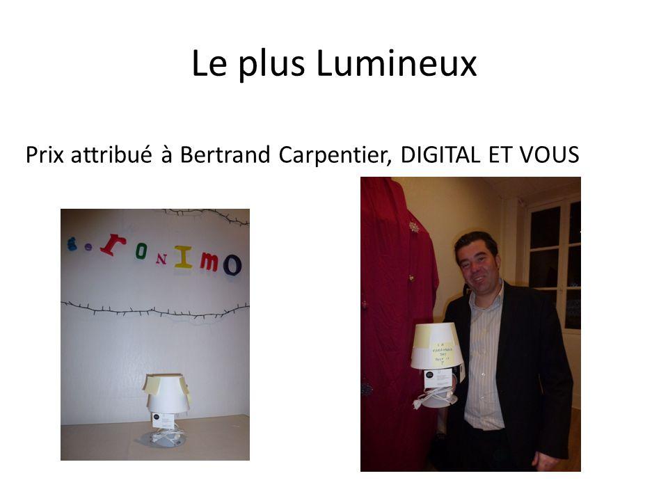 Le plus Lumineux Prix attribué à Bertrand Carpentier, DIGITAL ET VOUS