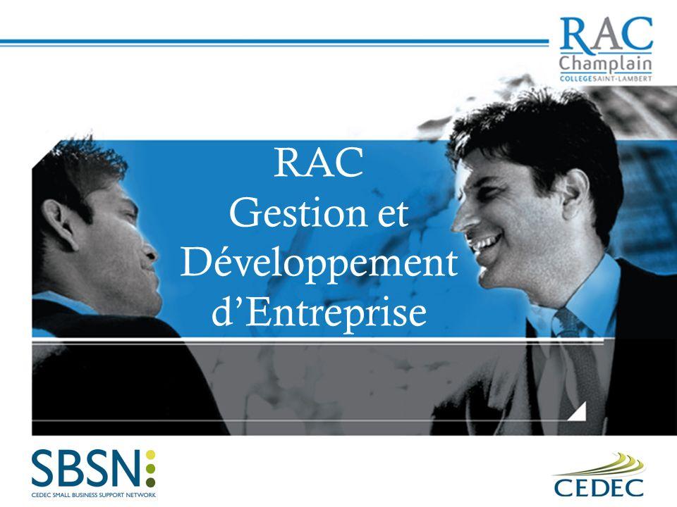 RAC Gestion et Développement dEntreprise
