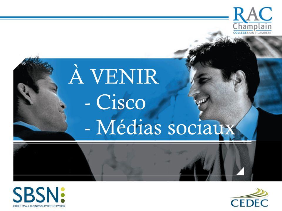 À VENIR - Cisco - Médias sociaux