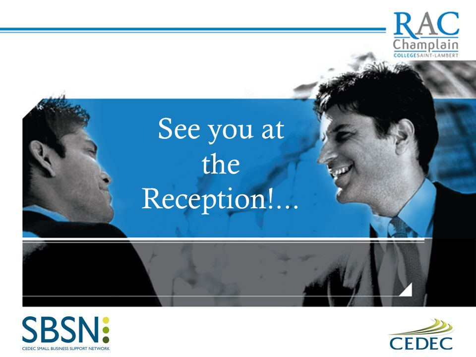 See you at the Reception!...