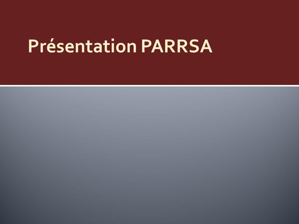 Plan de Presentation 1) Présentation PARRSA 2) Evaluation possible.