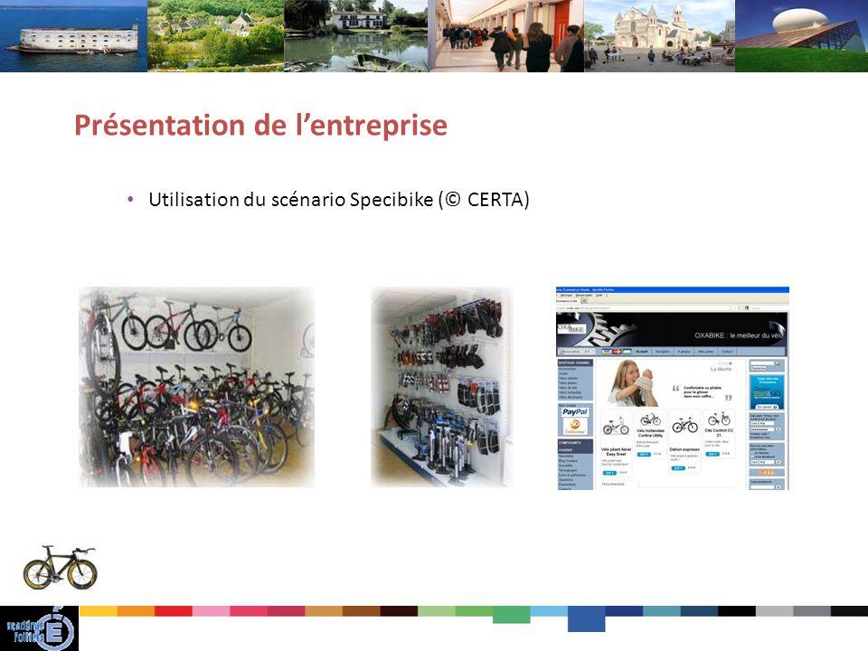 17 Utilisation du scénario Specibike (© CERTA) Présentation de lentreprise
