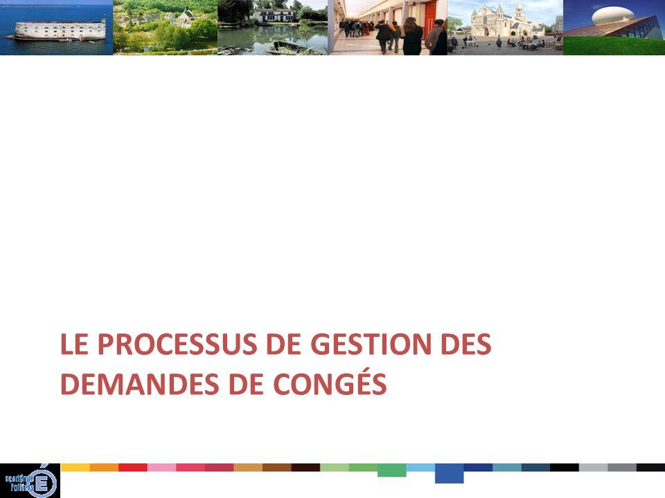 LE PROCESSUS DE GESTION DES DEMANDES DE CONGÉS