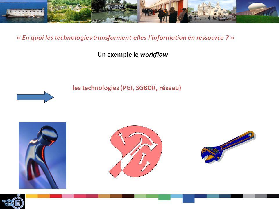 39 « En quoi les technologies transforment-elles linformation en ressource .