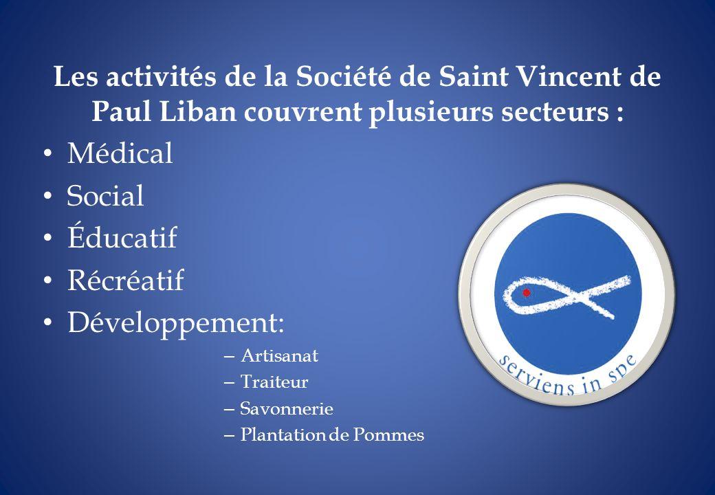 Les activités de la Société de Saint Vincent de Paul Liban couvrent plusieurs secteurs : Médical Social Éducatif Récréatif Développement: – Artisanat