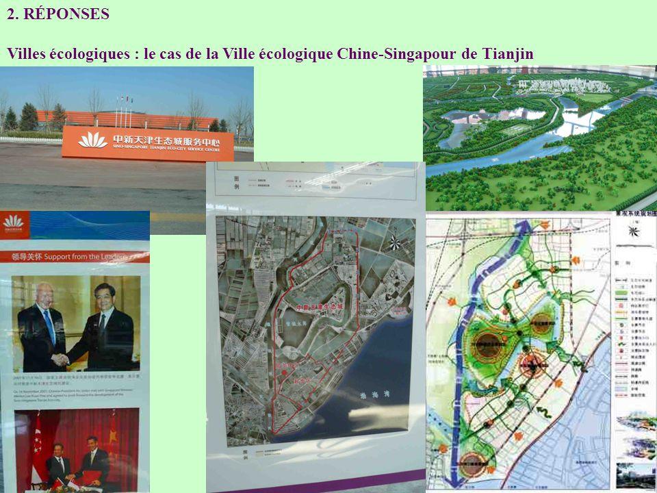 2. RÉPONSES Villes écologiques : le cas de la Ville écologique Chine-Singapour de Tianjin