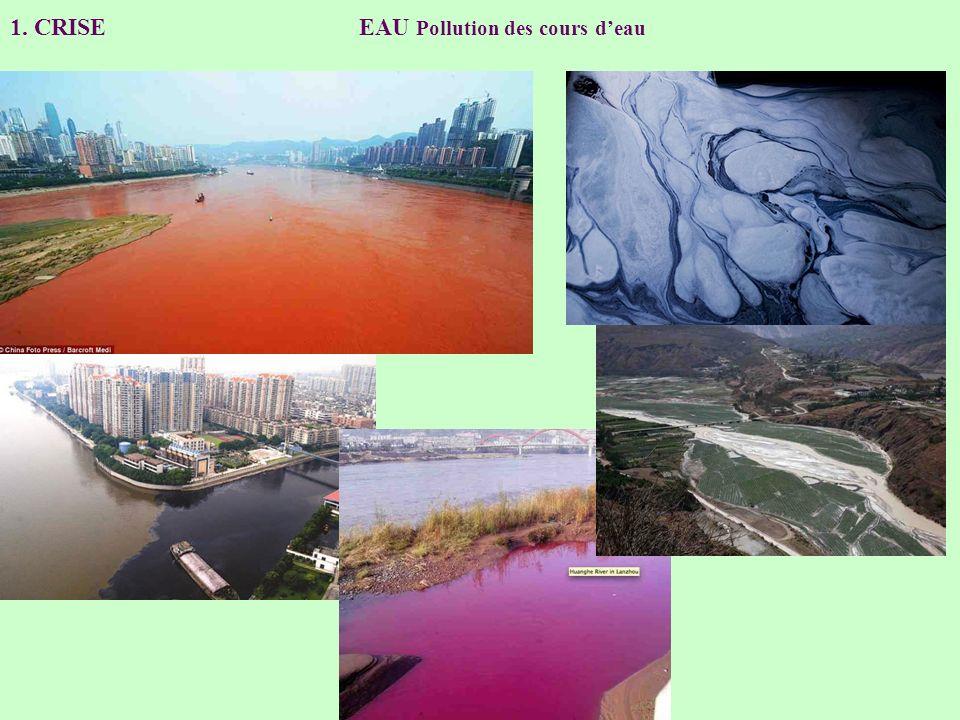 1. CRISE EAU Pollution des cours deau
