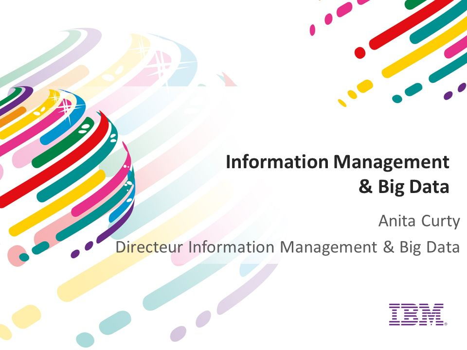 Information Management & Big Data Anita Curty Directeur Information Management & Big Data