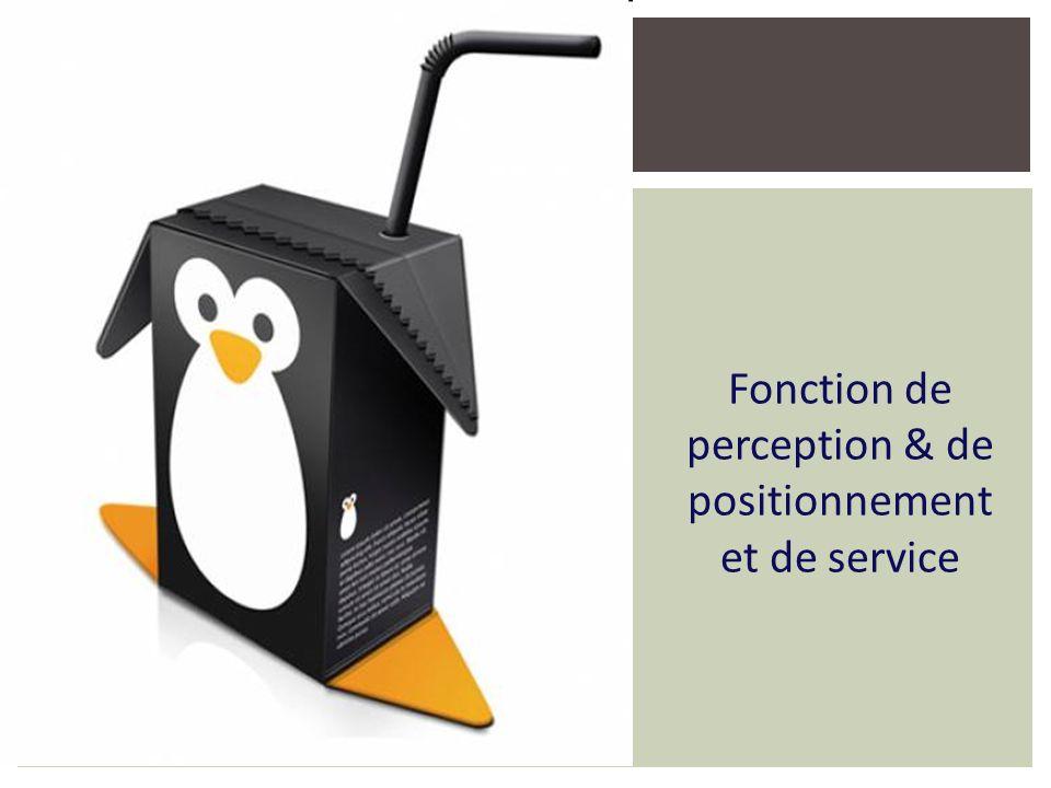Fonction de perception & de positionnement et de service