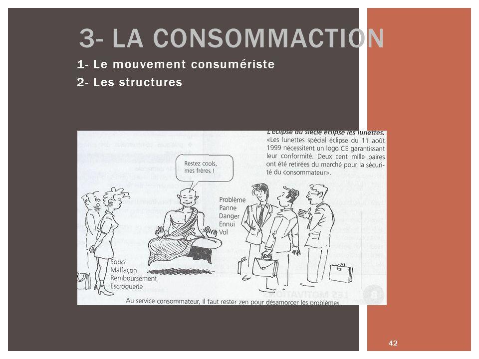 1- Le mouvement consumériste 2- Les structures 42 3- LA CONSOMMACTION