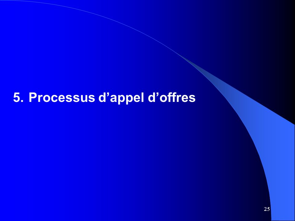 25 5.Processus dappel doffres