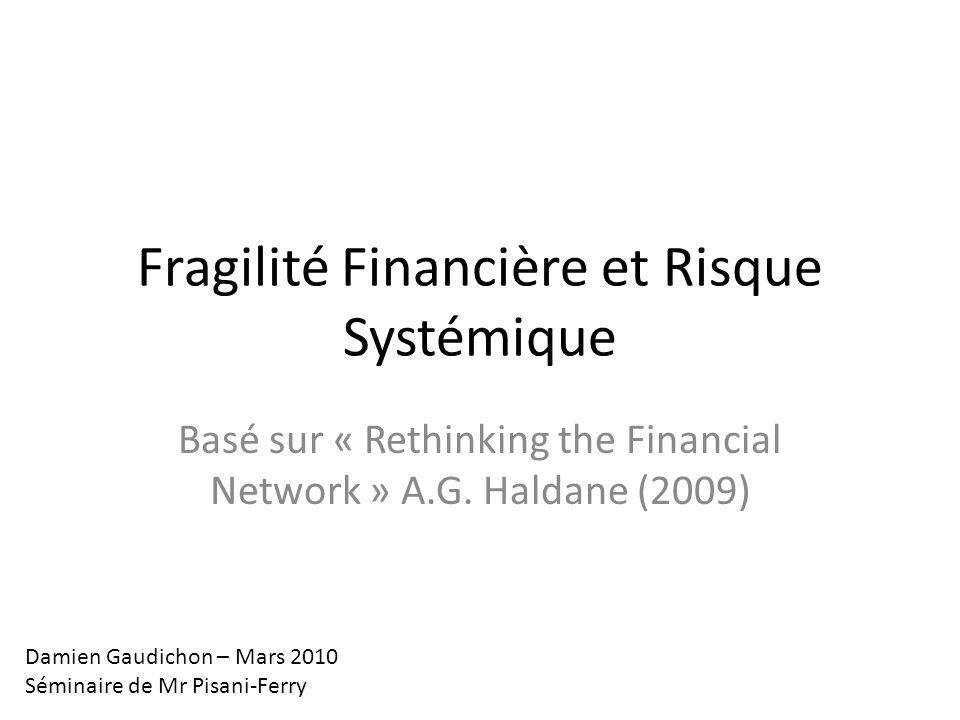 Fragilité Financière et Risque Systémique Basé sur « Rethinking the Financial Network » A.G.