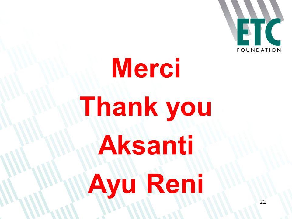 22 Merci Thank you Aksanti Ayu Reni