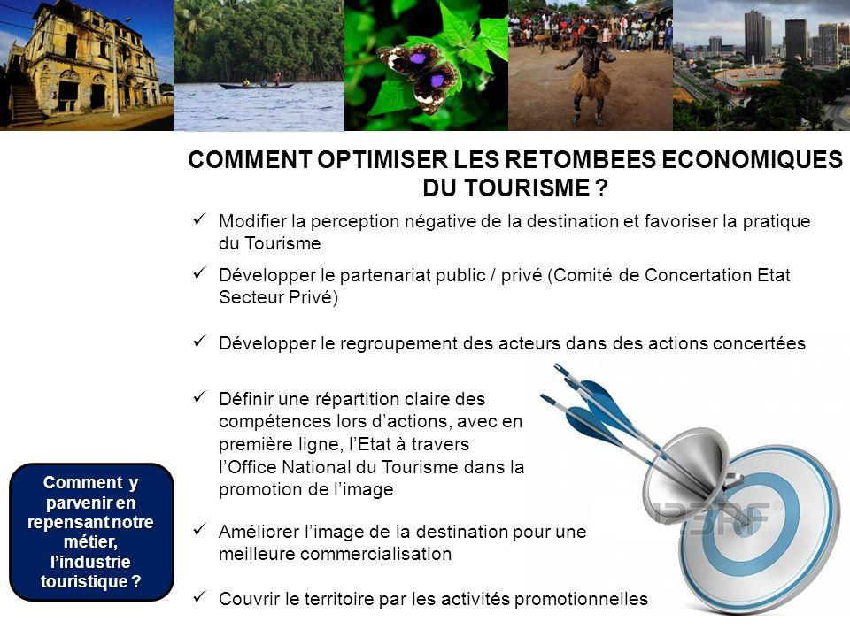 Comment le Tourisme peut-il impacter léconomie des Etats de lAOC ? Couvrir le territoire par les activités promotionnelles COMMENT OPTIMISER LES RETOM