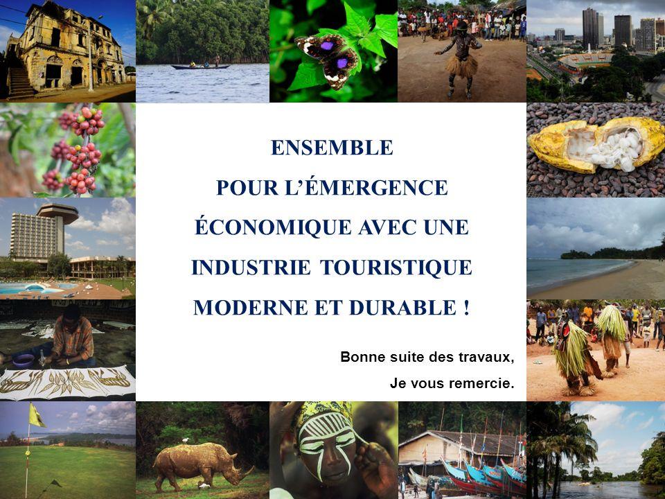 Comment le Tourisme peut-il impacter léconomie des Etats de lAOC ? ENSEMBLE POUR LÉMERGENCE ÉCONOMIQUE AVEC UNE INDUSTRIE TOURISTIQUE MODERNE ET DURAB