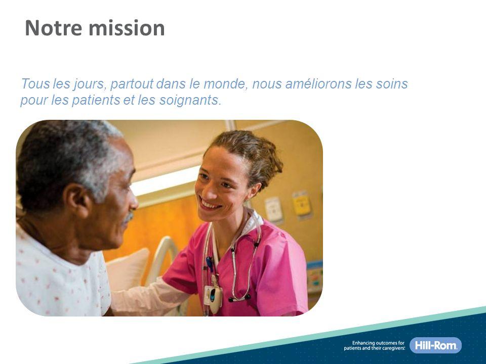 Notre mission Tous les jours, partout dans le monde, nous améliorons les soins pour les patients et les soignants.