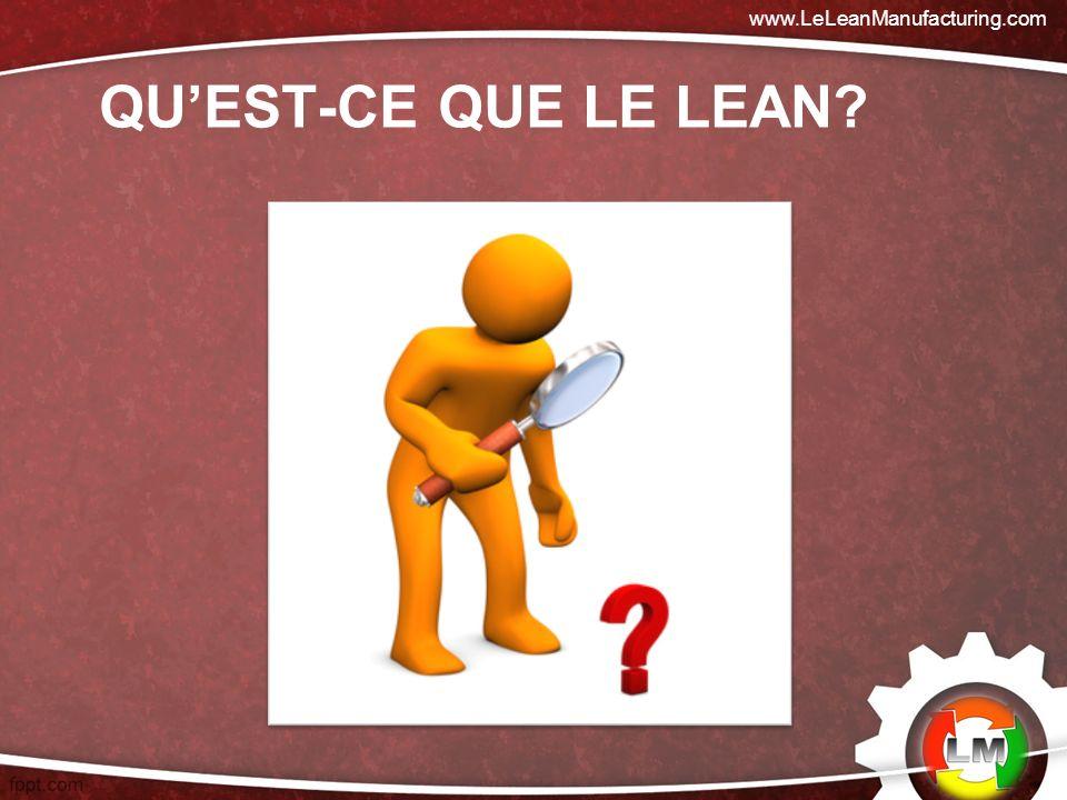 QUEST-CE QUE LE LEAN? www.LeLeanManufacturing.com
