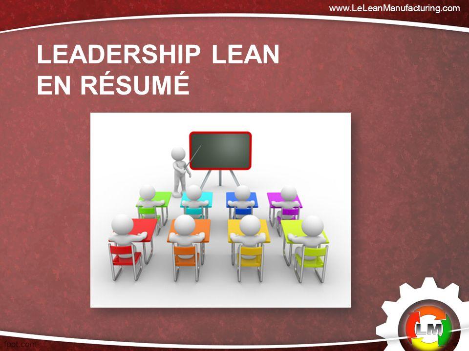 LEADERSHIP LEAN EN RÉSUMÉ www.LeLeanManufacturing.com