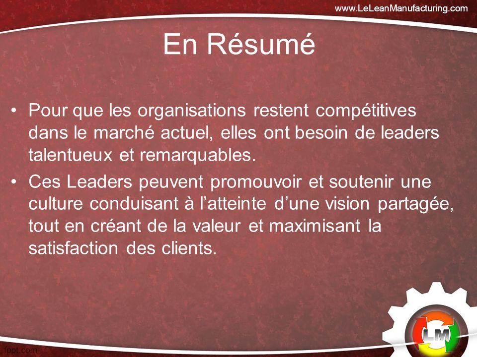 Pour que les organisations restent compétitives dans le marché actuel, elles ont besoin de leaders talentueux et remarquables.