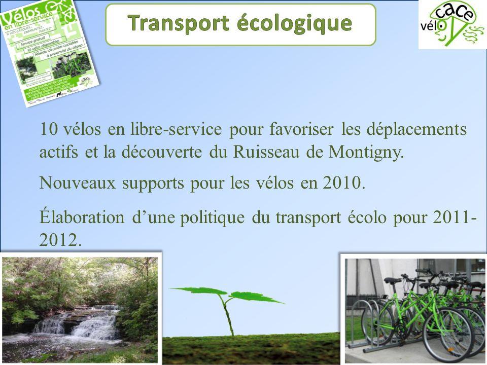 10 vélos en libre-service pour favoriser les déplacements actifs et la découverte du Ruisseau de Montigny.