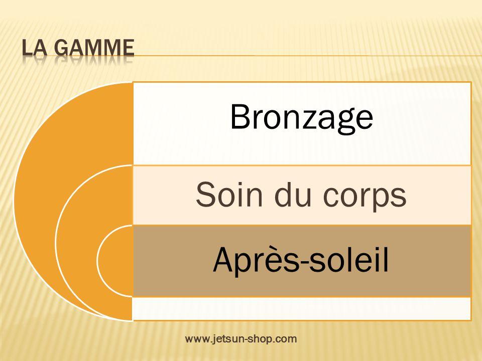 Bronzage Soin du corps Après-soleil www.jetsun-shop.com