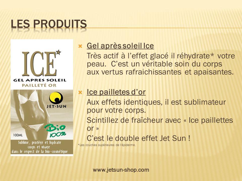 Gel après soleil Ice Très actif à leffet glacé il réhydrate* votre peau. Cest un véritable soin du corps aux vertus rafraichissantes et apaisantes. Ic