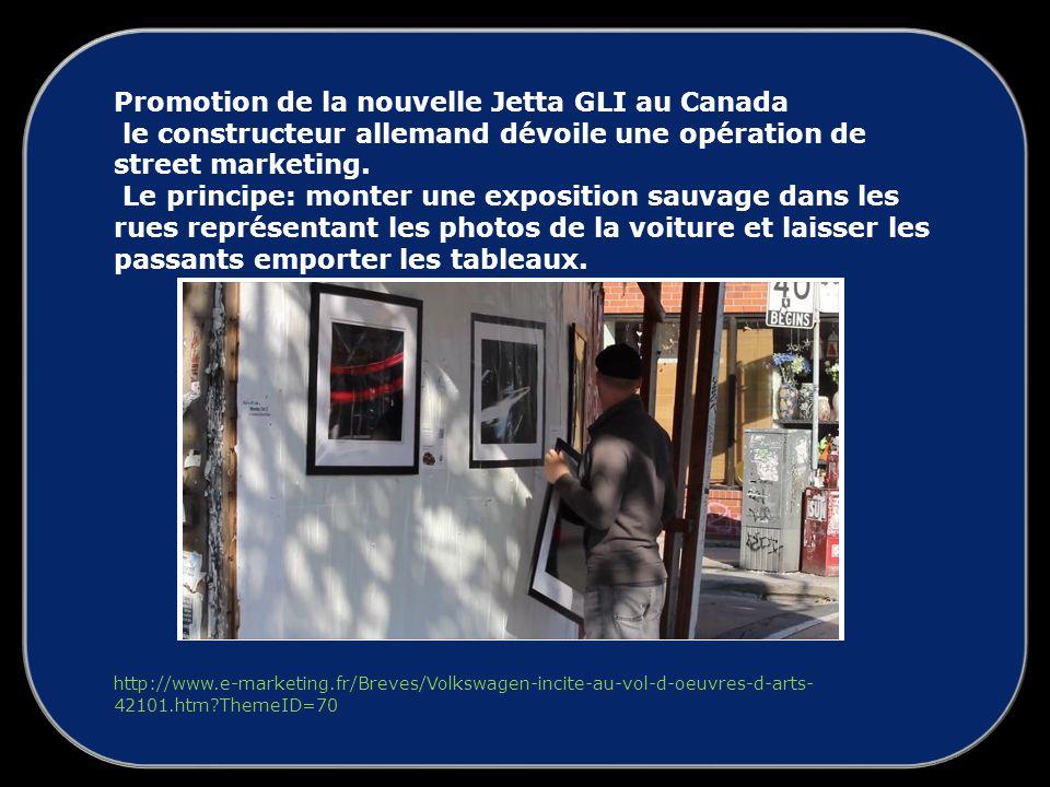 Promotion de la nouvelle Jetta GLI au Canada le constructeur allemand dévoile une opération de street marketing.