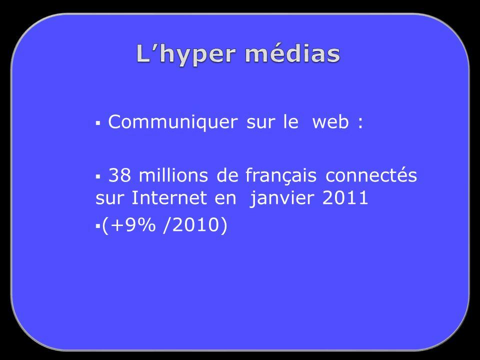 Communiquer sur le web : 38 millions de français connectés sur Internet en janvier 2011 (+9% /2010)