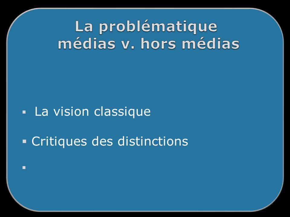 La vision classique Critiques des distinctions