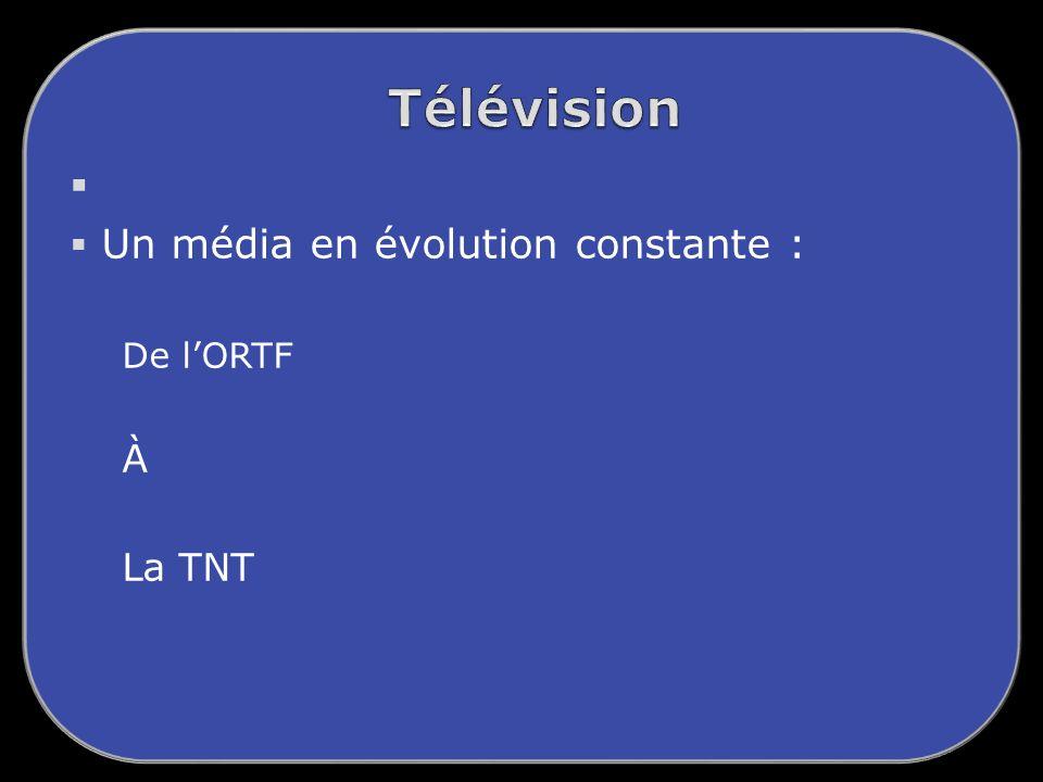 Un média en évolution constante : De lORTF À La TNT