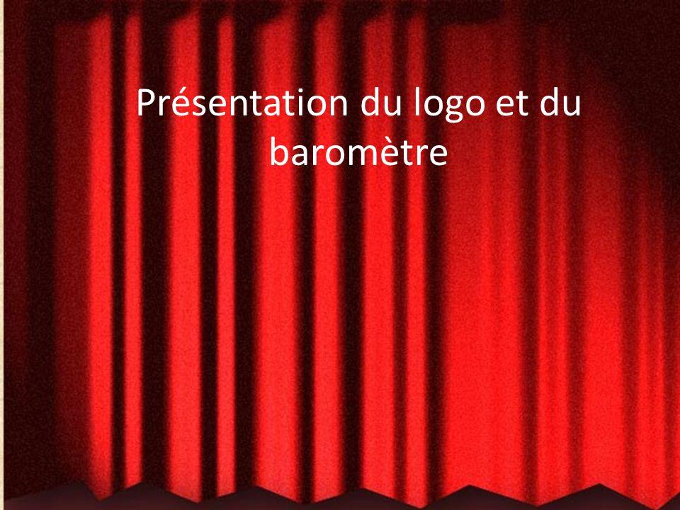 Présentation du logo et du baromètre Un gros MERCI à Mme Émilie Blanchette et François Gélinas (graphistes et parents de Xavier Gélinas pour leur cont
