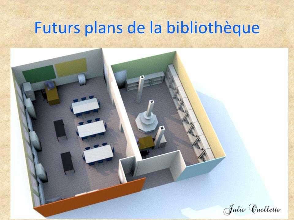 Futurs plans de la bibliothèque